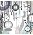 Vintage background with pocket watches and vector image vector image