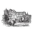 Vintage Stuttgart palace vector image vector image