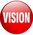 vision red round gel isolated push button vector image vector image