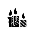 wax light candles black icon sign on vector image