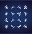 winter snowflakes icons set flat design icons for vector image vector image