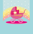 baby shower - its a girl vector image