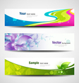 Banner headers colorful set vector image