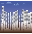 building silhouette city vector image