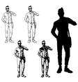 Set of a fashionable guy vector image