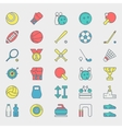 Sport bright icons vector image