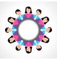 round people global discussion concept vector image