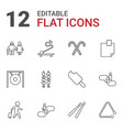 12 stick icons vector image vector image