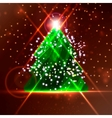 Abstract Christmas tree on the colorful background vector image vector image