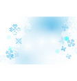 abstract winter snowflakes background vector image vector image