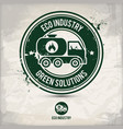 alternative eco industry stamp vector image vector image