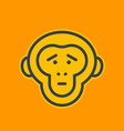 ape sad chimp linear icon vector image vector image