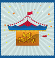 april fools day circus star background vector image vector image