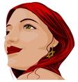 Beautiful portrait vector image vector image