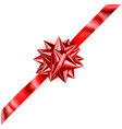 Beautiful red shiny bow vector image vector image