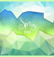 beautiful spring background texture vector image vector image