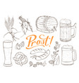 beer sketches isolated vector image vector image