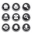 black internet buttons vector image vector image