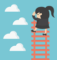 business woman on ladder Looking for success vector image vector image
