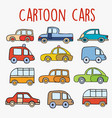cartoon cars sketch vector image vector image