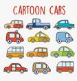 cartoon cars sketch vector image