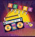 cartoon color retro party ad flyer concept banner vector image vector image