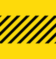 caution black and yellow striped seamless vector image vector image
