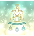 Christmas Angel icon Xmas vintage elegant vector image