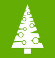 christmas tree icon green vector image