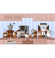 Coffee home concept vector image