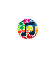 color music logo icon design vector image vector image