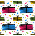 colorful gifts seamless pattern vector image