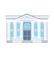 courthouse flat building icon vector image vector image