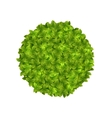 Eco Friendly Circle Frame Made in Green Leaves vector image vector image