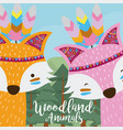 foxes woodland animals vector image vector image