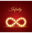 Glowing Infinity Symbol Background vector image