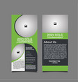 golf tournament rack card template vector image vector image