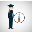 graduate student girl chemistry design vector image vector image