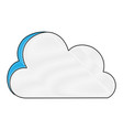grated nice cloud nature weather icon vector image vector image