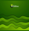 green corporate elegant waves abstract background vector image vector image