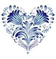 gzhel heart vector image vector image