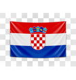 hanging flag croatia republic croatia vector image vector image