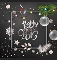 happy new year greeting card premium design vector image