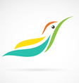 image of an humming bird design on white backgroun vector image vector image