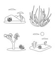isolated object wilderness and texas icon vector image vector image