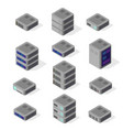 isometric network vector image