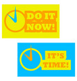its time vector image