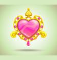 jewelry cartoon asset vector image vector image