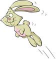 jumping bunny vector image vector image
