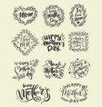 lettering set for happy mothers day card vector image vector image